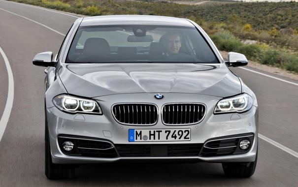 Фото обои машина, фары, бмв, BMW, передок, Sedan, 535i
