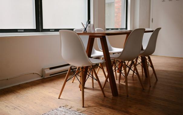 Фото обои стол, окна, стулья, стул, офис