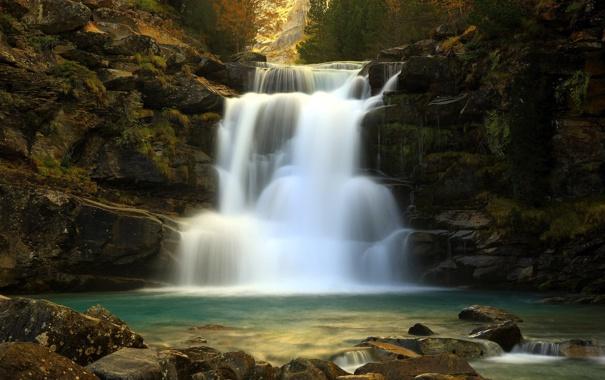 Фото обои природа, река, водопад