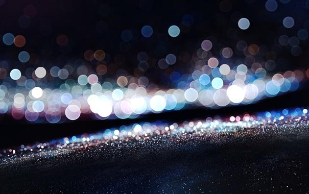 Фото обои макро, свет, круги, отражение, блеск