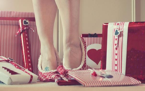 Фото обои фон, ноги, подарки