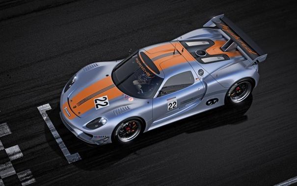 Фото обои Porsche, гоночный, на старте