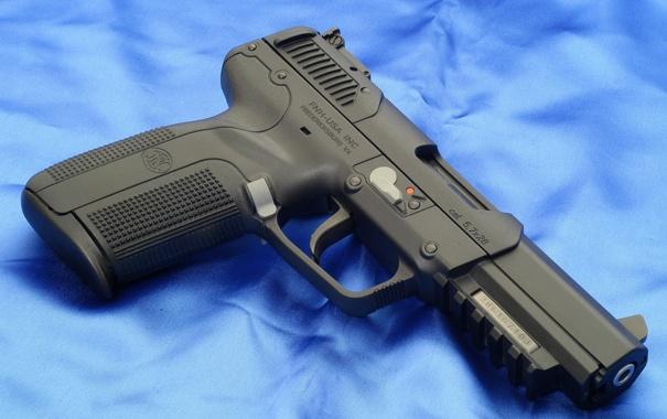 Фото обои pistol, blue, 7mm, Pistol FN Herstal Pistol cal. 5