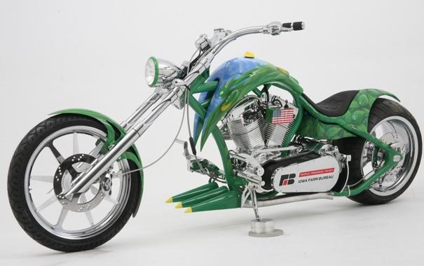 Фото обои Кастом, Мотоцикл, Супер, Spider, Чоппер