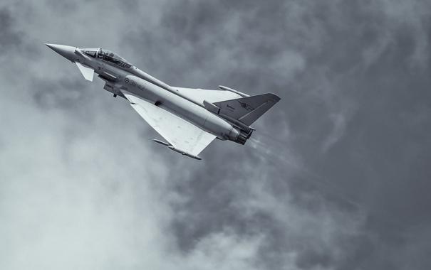 Фото обои полет, истребитель, многоцелевой, Eurofighter Typhoon