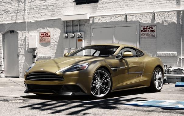 Фото обои Aston Martin, Front, Building, Supercar, Vanquish