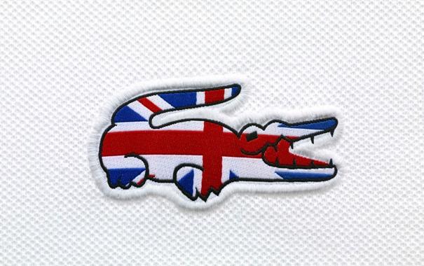 Фото обои крокодил, флаг, Великобритания, Lacoste, flag, Great Britain