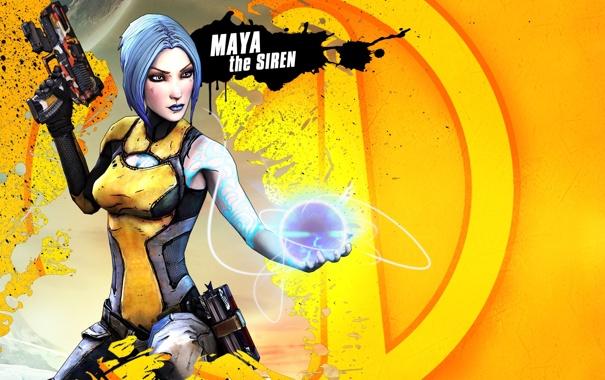 Фото обои девушка, оружие, Майя, Maya, Сирена, RPG, 2K Games