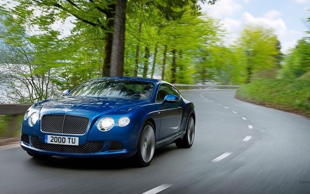 Фото обои дорога, car, авто, трава, деревья, синий, цвет