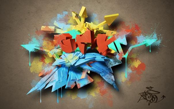 Фото обои краски, граффити, SplatterGraf