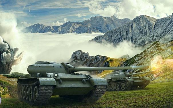 Фото обои танк, USSR, СССР, танки, Т-54, WoT, Мир танков