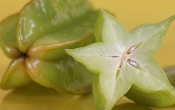 Фото обои green, фрукт, зелёный, star, экзотика, тропический, звёздочка