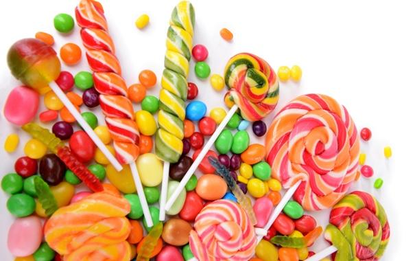 Фото обои colorful, конфеты, леденцы, sweet, драже, dessert, candy