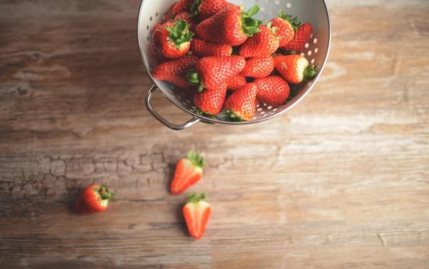 Фото обои красные, клубника, ягоды