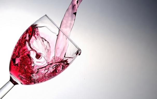 Фото обои макро, вино, бокал