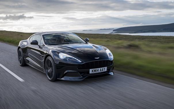 Фото обои Aston Martin, астон мартин, Vanquish, ванквиш, 2014, Carbon Black