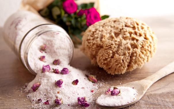 Фото обои розы, губка, бутоны, спа, roses, соль, spa