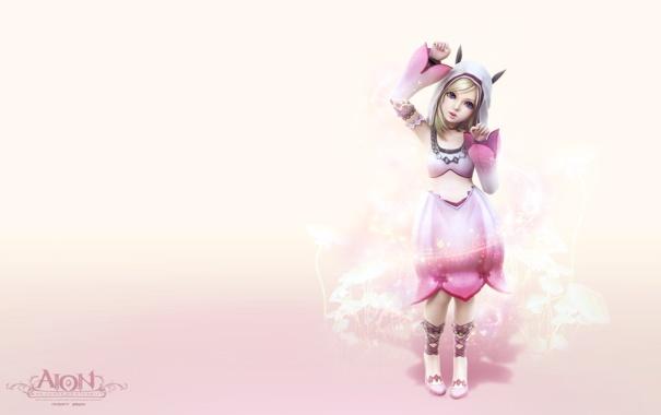Фото обои девушка, розовый, аниме, aion