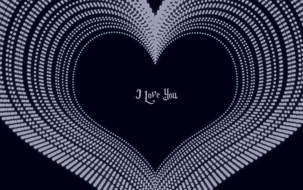 Фото обои синий, настроение, сердце, минимализм, love