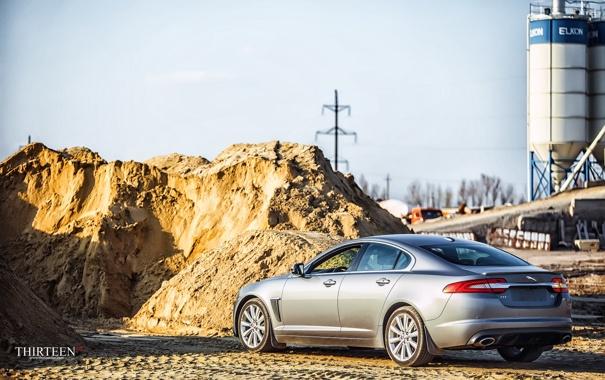 Фото обои песок, машина, авто, Jaguar, Ягуар, фонари, фотограф