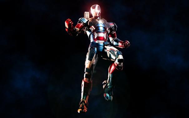 Фото обои костюм, iron man, Marvel Comics, James Rhodes, Iron Patriot, Rhodey