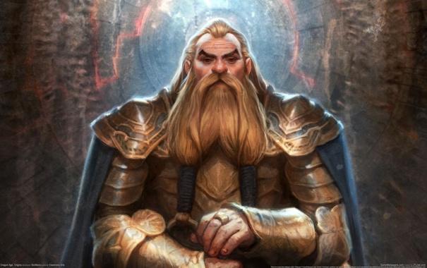 Фото обои Воин, Дварф, GameWallpapers, Dragon Age, Origin