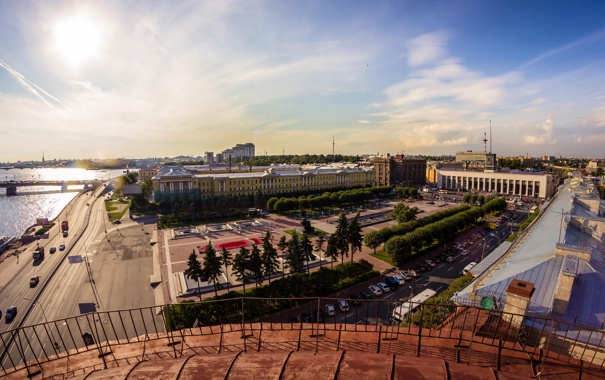 Фото обои лето, Russia, питер, санкт-петербург, St. Petersburg, финлянский вокзал, площадь Ленина