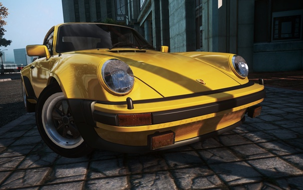 Фото обои город, фары, ракурс, need for speed most wanted 2, Porsche turbo