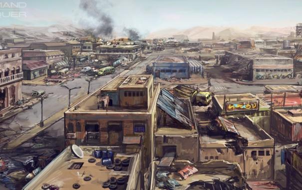 Фото обои город, война, арт, war, Command & Conquer