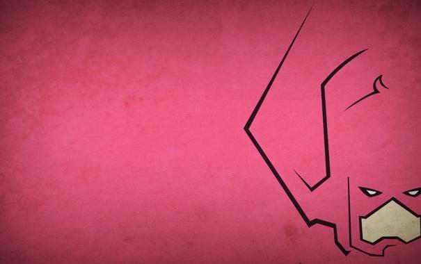 Фото обои розовый, минимализм, злодей, галактус