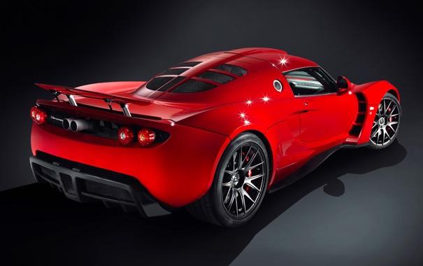 Фото обои Красный, Машина, Red, Car, Автомобиль, Hennessey, Venom GT