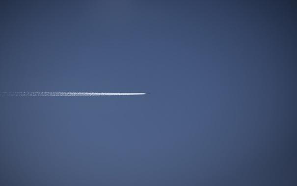 Фото обои небо, авиация, следы, путешествия, фото, обои, пейзажи