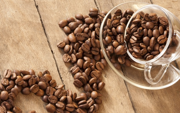 Фото обои макро, кофе, зерна, чашка, macro, cup, beans