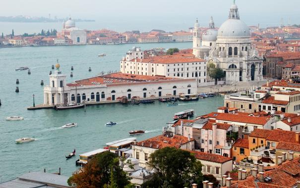 Фото обои город, фото, дома, Италия, сверху, Венеция, Veneto