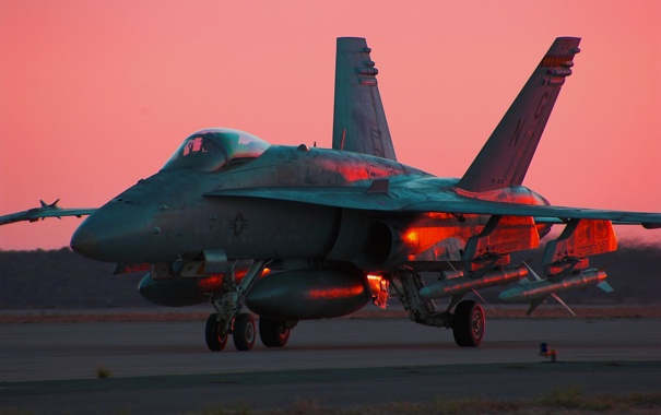 Фото обои истребитель, F/A-18C, многоцелевой, Hornet