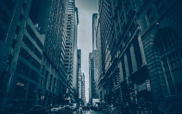 Фото обои city, Нью-Йорк, здания, улица, street, New York, Пятое авеню