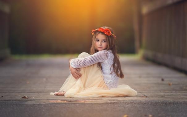 Фото обои взгляд, настроение, девочка