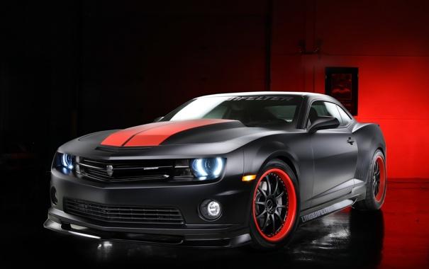 Фото обои чёрный, тюнинг, Chevrolet, Camaro, шевроле, black, камаро