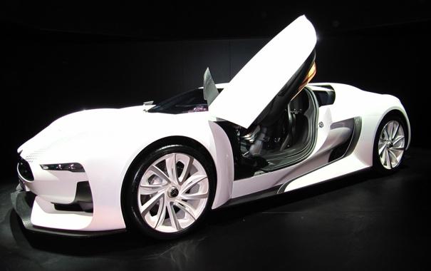 Фото обои машина, ситроен, белая, авто