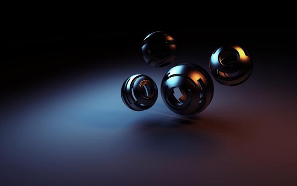 Фото обои поверхность, шары, фигура, сферы, полые