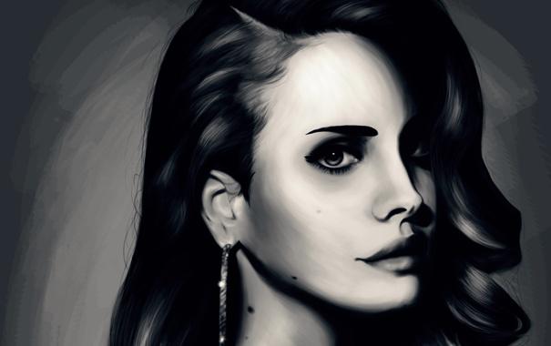 Фото обои девушка, крупный план, портрет, Lana Del Ray