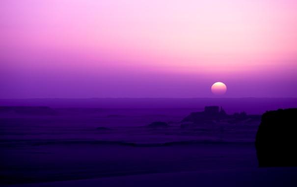 Фото обои пустыня, утро, розовое