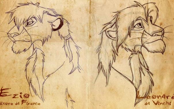 Фото обои Ezio, Lion, Leo
