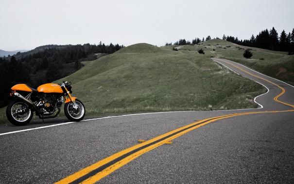 Фото обои дорога, путешествия, мотоциклы, пейзажи, дороги, путешествие, ducati
