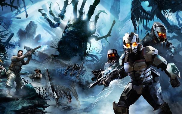 Фото обои Монстры, Космос, space, Пришельцы, jungle battle