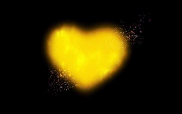 Фото обои сердце, сияние, брызги