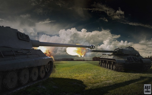 Фото обои Германия, танк, USSR, СССР, танки, Germany, WoT