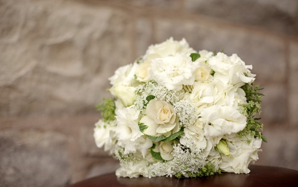 Фото обои цветы, букет, гортензия, композиция, эустома