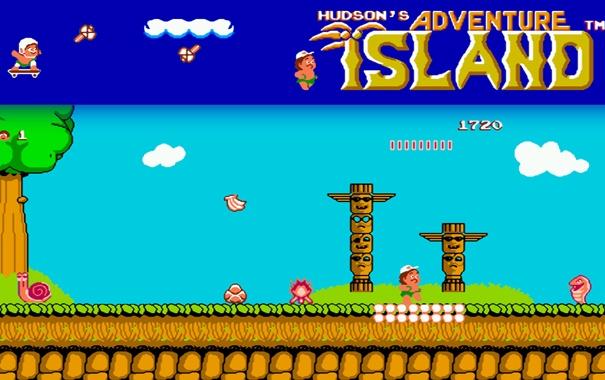 Фото обои retro, NES, NIntendo, island Adventure