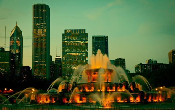 Фото обои город, Чикаго, США, Chicago, Иллиноис